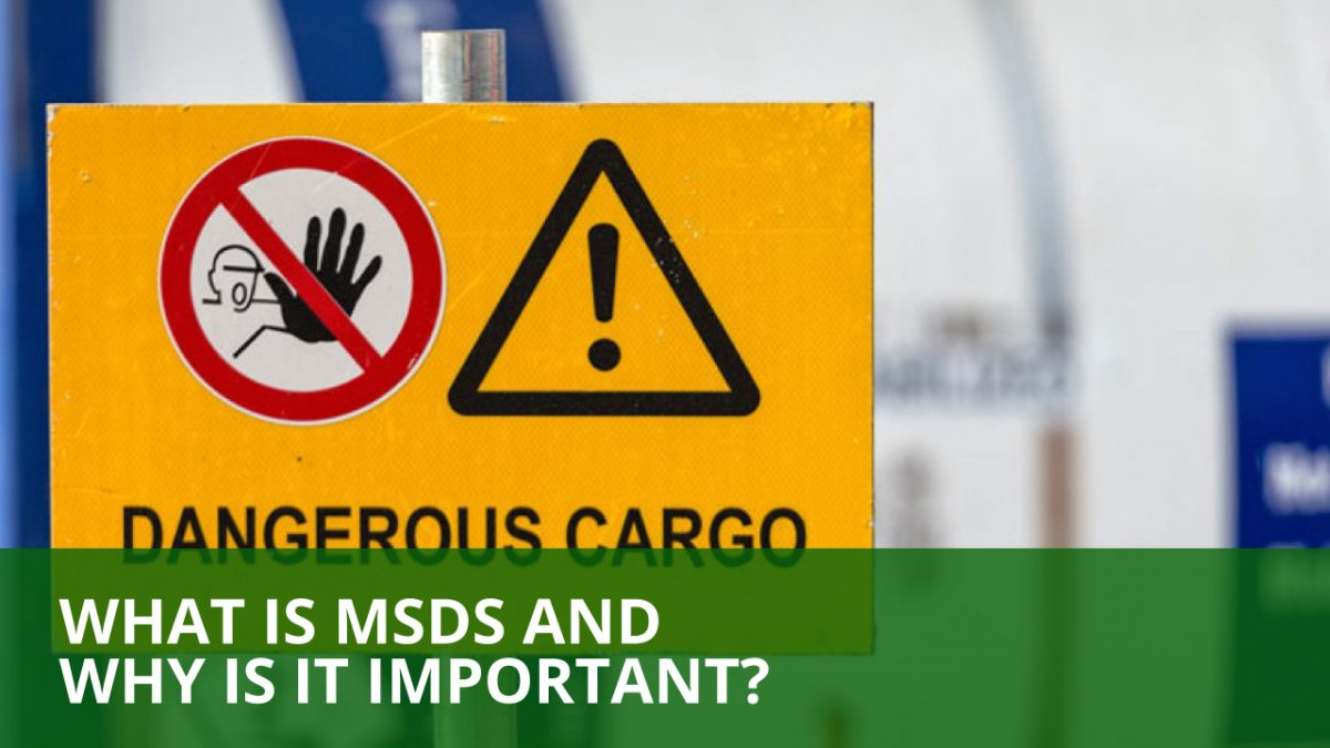 why is an msds document important